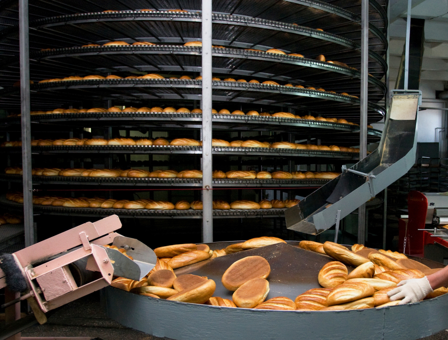 Bread manufacturing and sorting machine